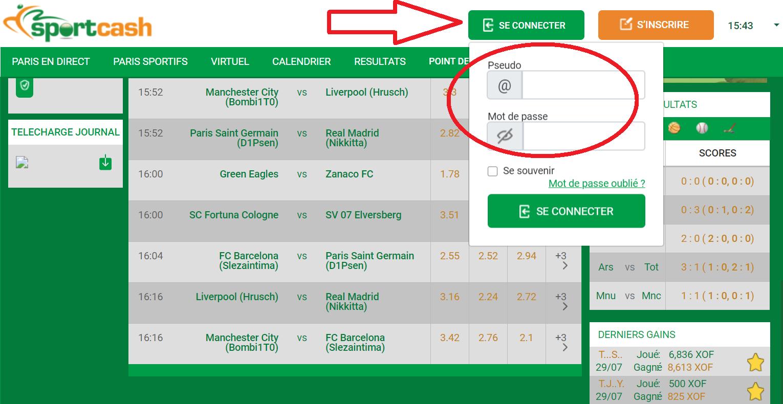 Comment placer un pari pour un match en direct et Sportcash inscription