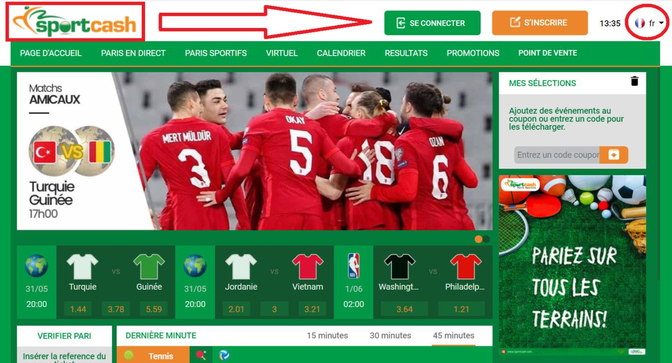 Comment voir le resultat officiel sur Sportcash